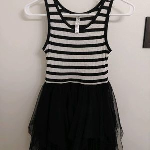 Cute black and white striped dress